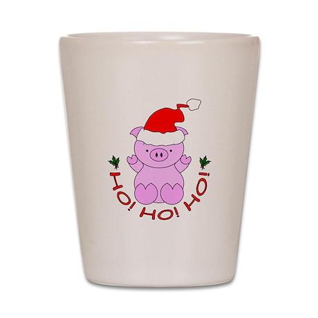 Cartoon Pig Santa Shot Glass