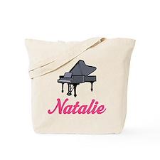 Natalie Name Piano Tote Bag