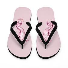 punk/rose seahorse family Flip Flops