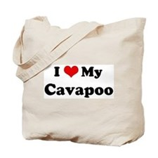 I Love Cavapoo Tote Bag