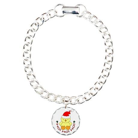 Cartoon Chicken Santa Charm Bracelet, One Charm