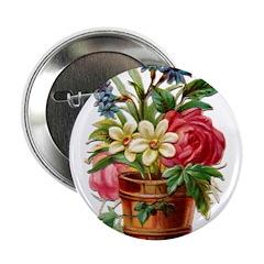 "Vintage floral 2.25"" Button (100 pack)"