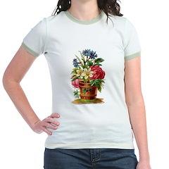 Vintage floral Jr. Ringer T-Shirt
