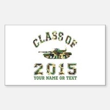 Class Of 2015 Military School Sticker (Rectangle)