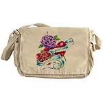 Jesus Loves Roses - Messenger Bag