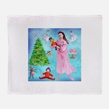 Nutcracker & Clara Throw Blanket