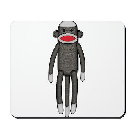 Plain Sock Monkey Mousepad