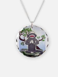 Sock Monkey Nirvana Necklace Circle Charm