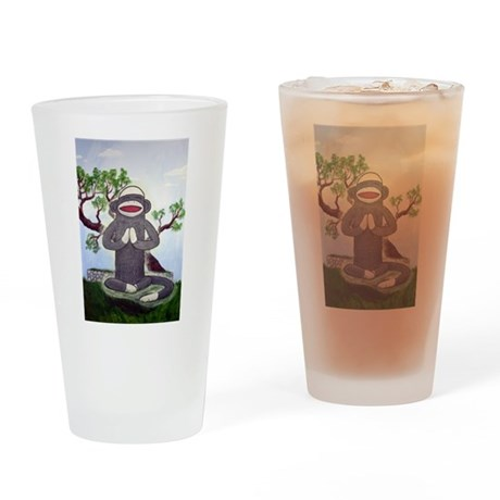 Sock Monkey Nirvana Pint Glass