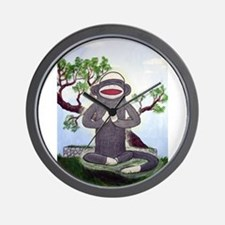 Sock Monkey Nirvana Wall Clock