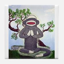 Sock Monkey Nirvana Tile Coaster