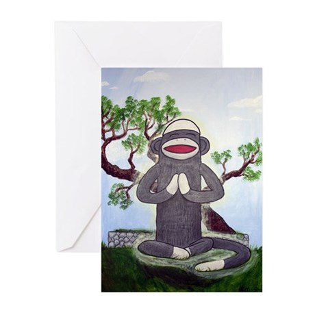 Sock Monkey Nirvana Greeting Cards (Pk of 10)