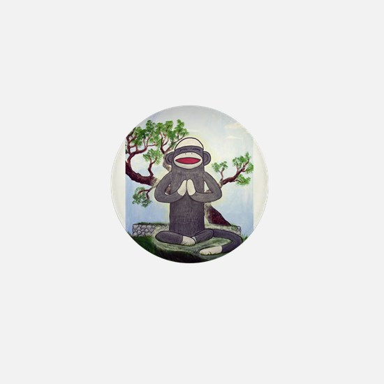 Sock Monkey Nirvana Mini Button