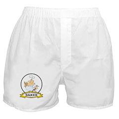 WORLDS GREATEST BAKER CARTOON Boxer Shorts