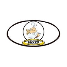 WORLDS GREATEST BAKER CARTOON Patches