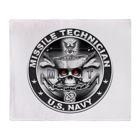 USN Missile Technician Skull Throw Blanket