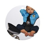 Laid Back Policeman Ornament (Round)
