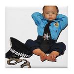 Laid Back Policeman Tile Coaster