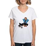 Laid Back Policeman Women's V-Neck T-Shirt
