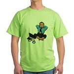 Laid Back Policeman Green T-Shirt