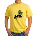 Laid Back Policeman Yellow T-Shirt