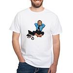 Laid Back Policeman White T-Shirt