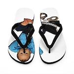 Laid Back Policeman Flip Flops