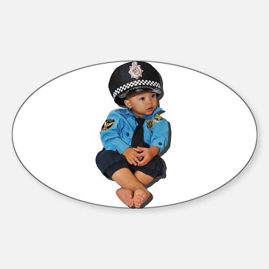 Police Coffee Break Sticker (Oval)