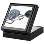Jailbird Handcuffs Ball Chain Keepsake Box