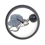 Jailbird Handcuffs Ball Chain Wall Clock