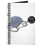 Jailbird Handcuffs Ball Chain Journal