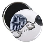Jailbird Handcuffs Ball Chain Magnet