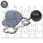 Jailbird Handcuffs Ball Chain Puzzle
