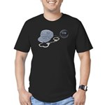 Jailbird Handcuffs Ball Chain Men's Fitted T-Shirt