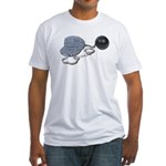 Jailbird Handcuffs Ball Chain Fitted T-Shirt