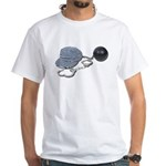 Jailbird Handcuffs Ball Chain White T-Shirt
