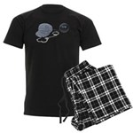 Jailbird Handcuffs Ball Chain Men's Dark Pajamas