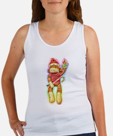 Christmas Sock Monkey Clothin Women's Tank Top