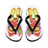 Christmas sock monkey Flip Flops