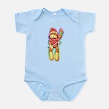 Christmas Sock Monkey Clothin Infant Bodysuit