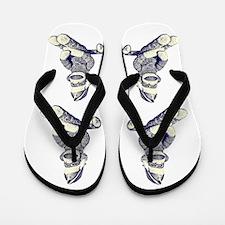 Grunge Christmas SockMonkey Flip Flops