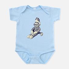 Grunge Christmas SockMonkey Infant Bodysuit