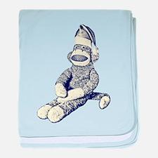 Grunge Christmas SockMonkey baby blanket