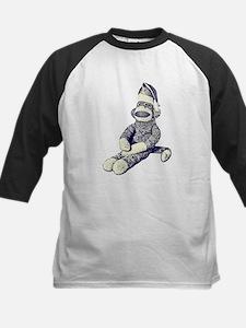 Grunge Christmas SockMonkey Kids Baseball Jersey