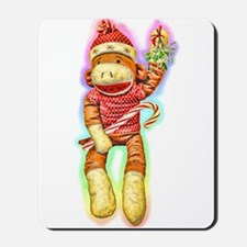 Glowing Christmas SockMonkey Mousepad