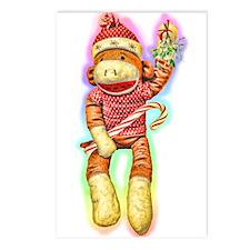 Glowing Christmas SockMonkey Postcards (Package of