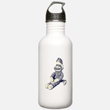 Grunge Christmas SockMonkey Water Bottle