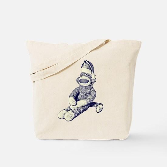Grunge Christmas SockMonkey Tote Bag