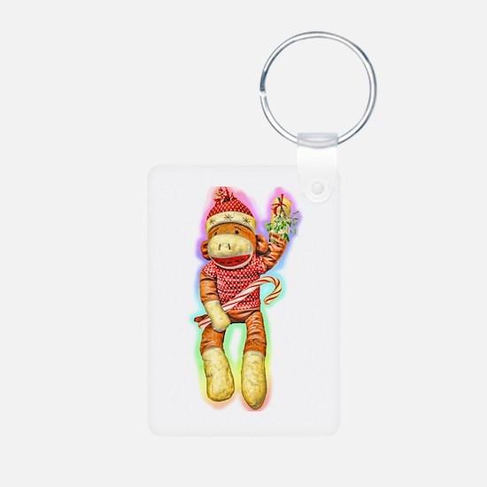 Christmas Sock Monkey Keychains