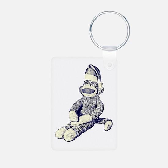 Grunge Christmas SockMonkey Keychains